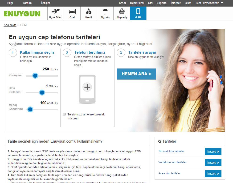 enuygun.com gsm